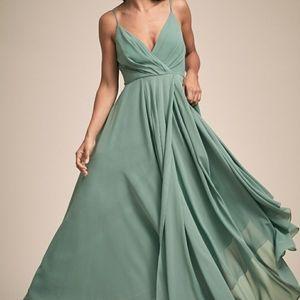 ANTHROPOLOGIE BHLDN Eva Dress in Moss Green